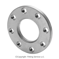 Slip on aluminiun flange PN 10 – metric dimensions