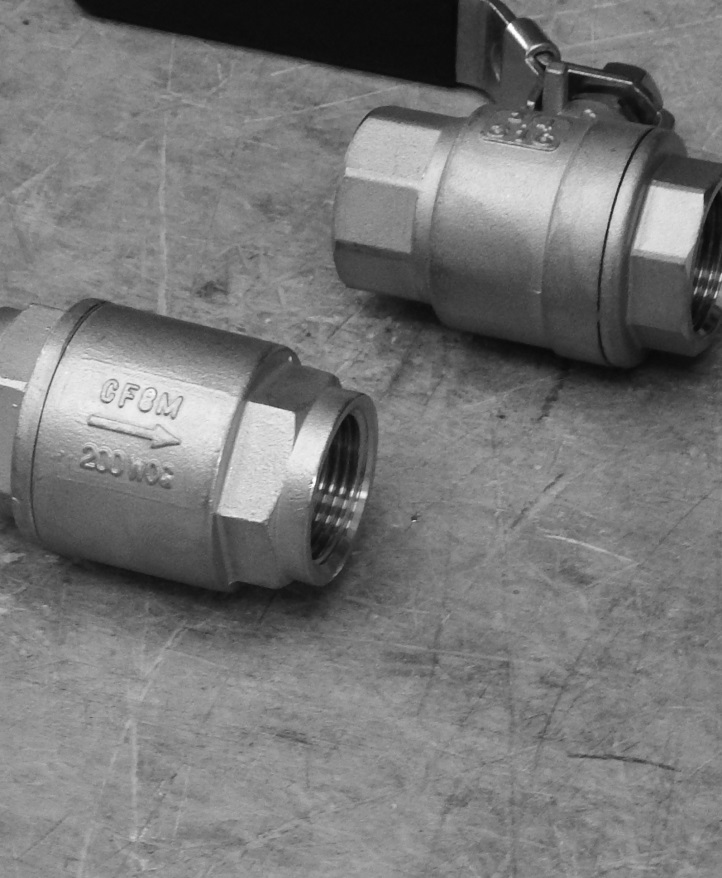 Stainless steel valves and strainers
